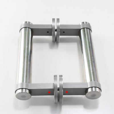Aluminum and stainlass steel glass door handles