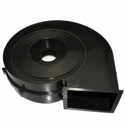 injection molding of a plastic fan housing in ABS