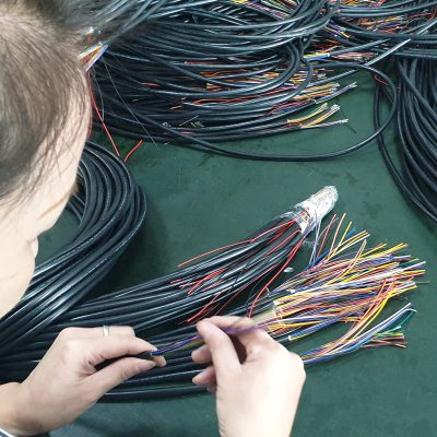 Manufacturing of a 12 wire multi cable