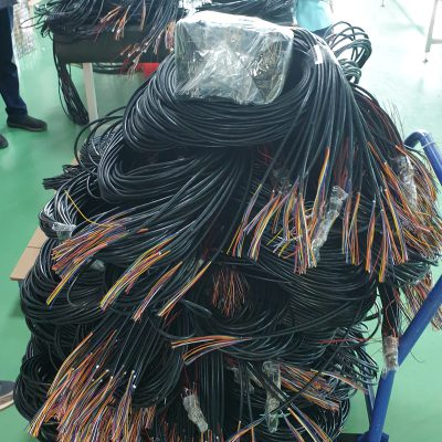 Packing of electric cables after manufacturing and testing at Davantech
