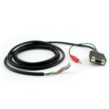 9 pins cable with overmolded audio plug