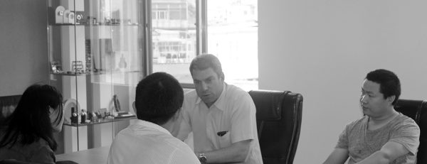 A picture of a business meeting in our meeting room at Davanteh
