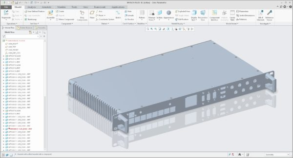 """Product engineering and CAD of a 19"""" Rack module"""