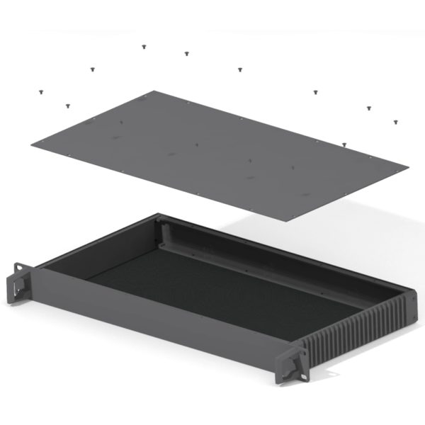 Rack module 19 inch product design and machining