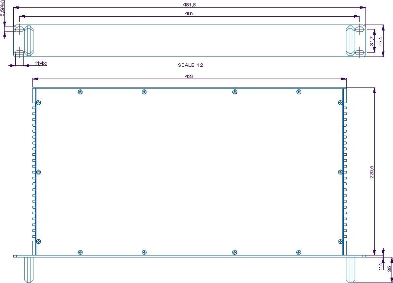 dimensions of a 19 inch rack module 1u