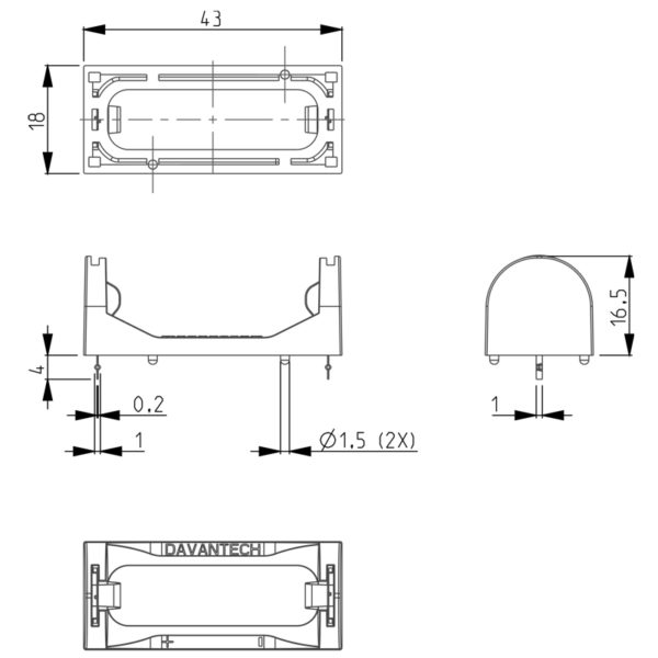 battery-holder-CR123A-dimensions