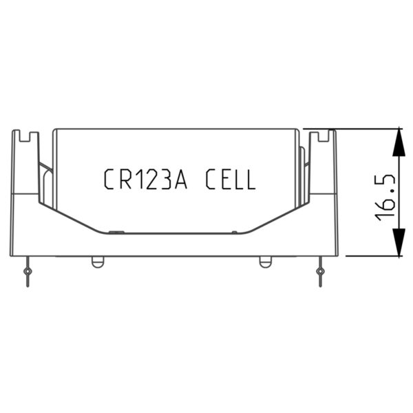 smallest CR123A battery holder