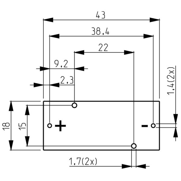 Mounting aperture of battery holder