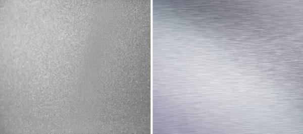surface finish of aluminum parts sandblasted or brushed