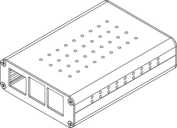 Aluminum housing for Raspberry Pi
