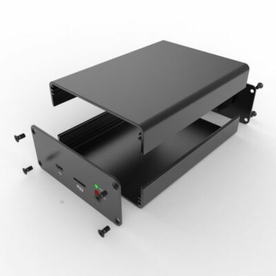 D1001438 exploded view of aluminum extrusion enclosure