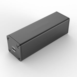 Extruded aluminum housing for electronic PCB 25x25