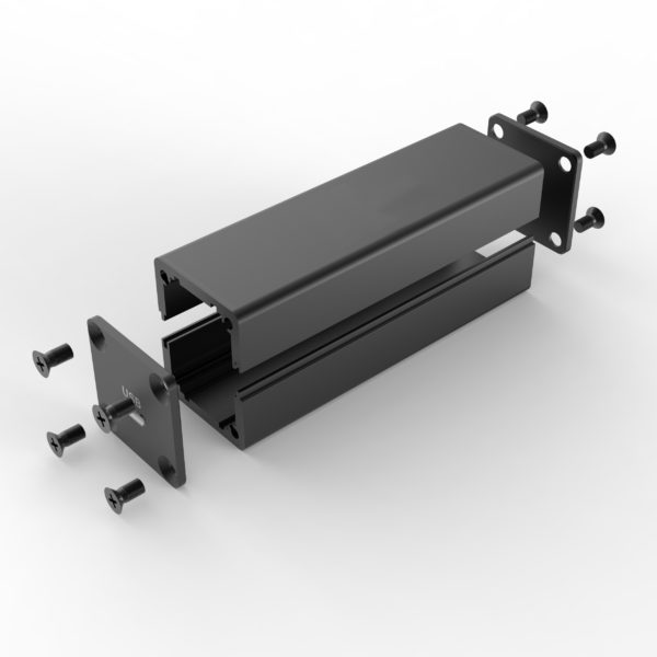 Small Extrusion aluminum housing 25 x 25 mm
