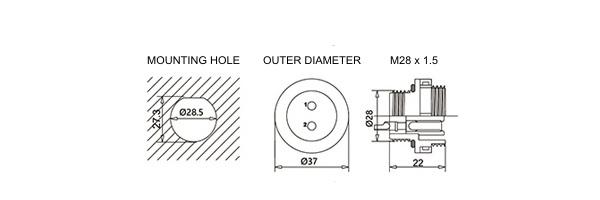 SD28-Information-panel-mount-square-flange