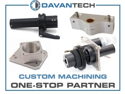 Custom machining by Davantech