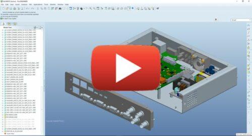 CAD design electronic enclosure