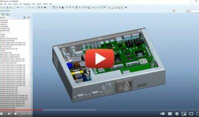 CAD design of elctronic enclosure
