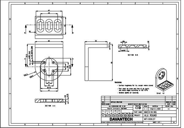 Design engineers make manufacturing drawings